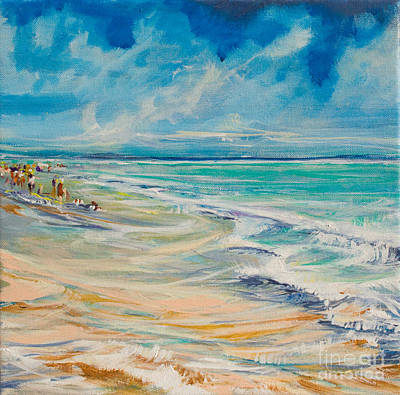 A Day At The Beach Print by Michele Hollister - for Nancy Asbell