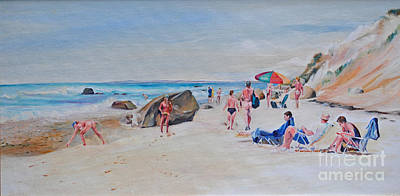 Painting - A Day At The Beach by P Anthony Visco