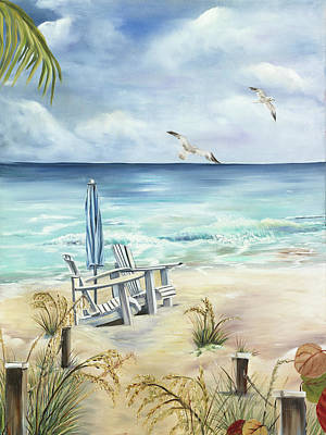 A Day At The Beach Original by Sue Appleton Dayton