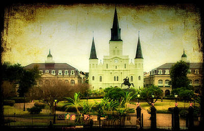 A Day At The Church Art Print by Iris Greenwell