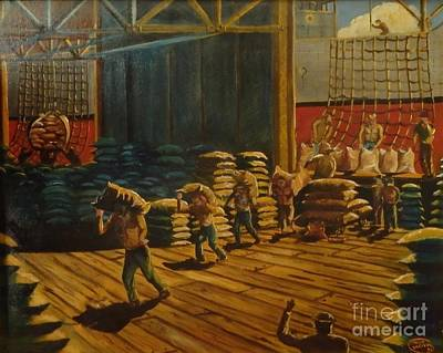 Painting - A Day At The Docks by Philip Bracco