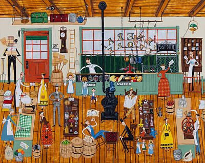 A Day At The General Store Original by Joseph Holodook