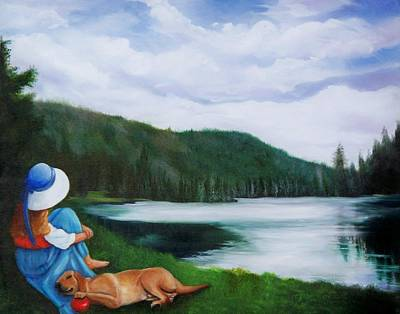 Painting - A Day At The Lake by Joni McPherson