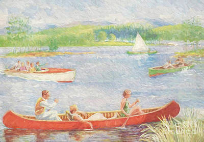 Painting - A Day At The Lake by Steven Parker