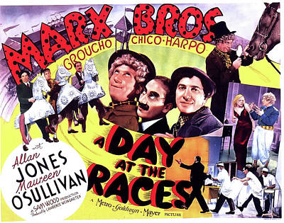 At Poster Mixed Media - A Day At The Races 1937 by M G M