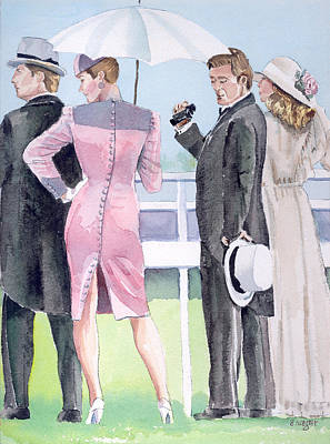 A Day At The Races Art Print by Arline Wagner
