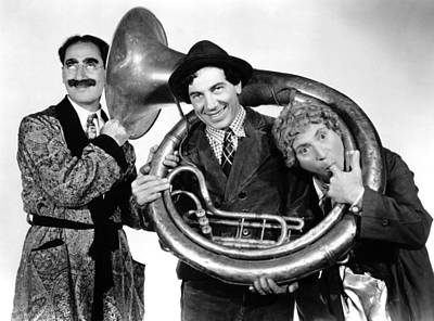 Groucho Marx Photograph - A Day At The Races, From Left Groucho by Everett