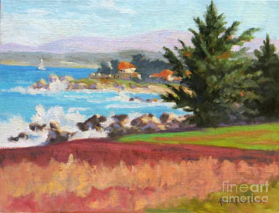 Monterey Wharf Painting - A Day By The Bay by Rhett Regina Owings