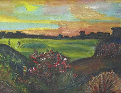 Mixed Media - A Day For Golfing At Cypress Creek by Anne-elizabeth Whiteway