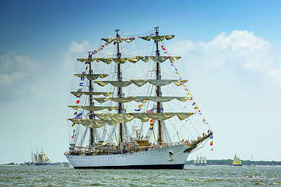 Photograph - A Day For Tall Ships by Walt Baker