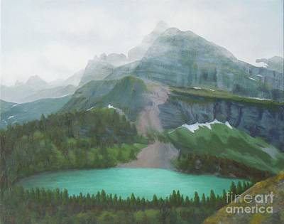Painting - A Day In Glacier National Park by Phyllis Andrews