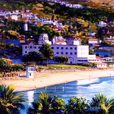 Laguna Beach Painting - A Day In Laguna by Frank Dalton