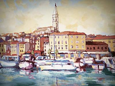Digital Art - A Day In Old Town Rovinj by Joseph Hendrix