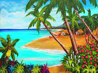A Day In Paradise Hawaii #359 Art Print by Donald k Hall