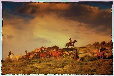 Working Cowboy Photograph - A Day In The Life Of A Cowboy by Judy  Jones