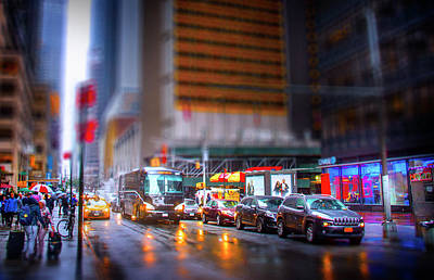 Miniature Effect Photograph - A Day In The Life Of Manhattan by Mark Andrew Thomas