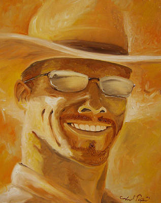 Painting - A Day In The Sun - Self Portrait  by Joseph Palotas