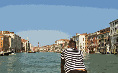 A Day In Venice Art Print