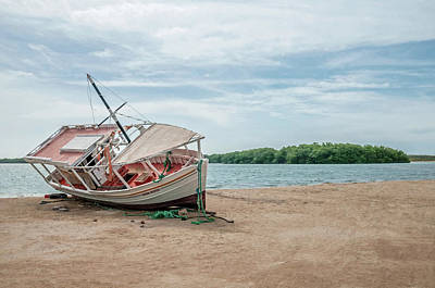 Photograph - A Day Of Fishing Aground by Wilfredo R Rodriguez