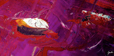 Large Painting - A Day Of The Butterfly Art - Modern Purple Large Abstract Painting by Modern Art Prints