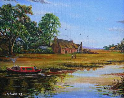 A Day On The Canal Art Print by Andrew Read