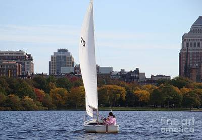 a day on the Charles Art Print by Robyn Leakey