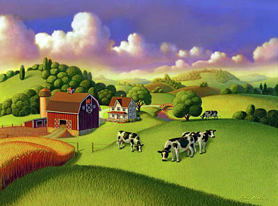 Painting - A Day On The Farm  by Robin Moline
