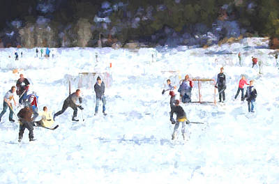 Painting - A Day On The Ice by Steven Parker