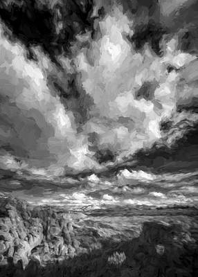 White Clouds Digital Art - A Day With Clouds II by Jon Glaser