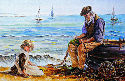 A Day With Granddad Edit Art Print