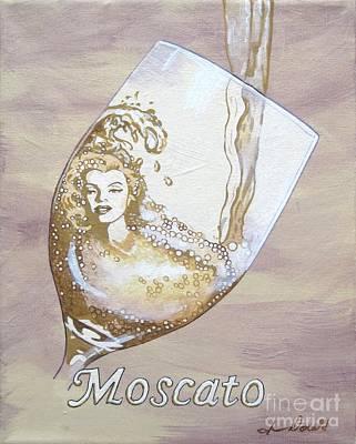 A Day Without Wine - Moscato Art Print by Jennifer  Donald