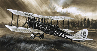 Jet Painting - A De Havilland Dh98 by Wilf Hardy