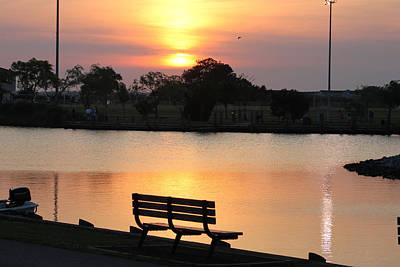 Photograph - A Deep Water Lagoon Sunset by Robert Banach
