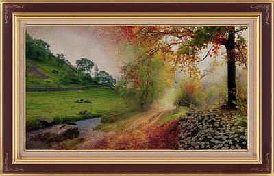 Mixed Media - A Delightful Country Stream Montage by Clive Littin