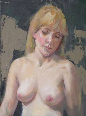Painting - A Demure Pose by Robert Holden