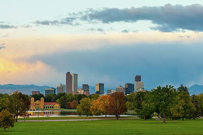 Photograph - A Denver Morning - Colorado Cityscape Skyline  by Gregory Ballos