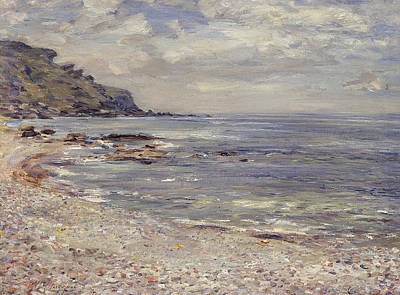 At Peace Painting - A Deserted Rocky Shore by William McTaggart