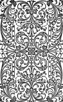Repeat Drawing - A Design For Parterre by Jacques Mollet