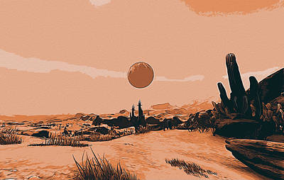 Painting - A Distant Desert Planet by Andrea Mazzocchetti