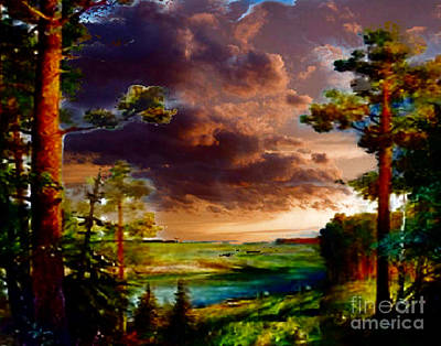 Mixed Media - A Distant View by Rod Jellison