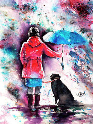 Wall Art - Painting - A Dog's Best Friend by Carrie McKenzie