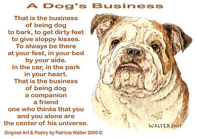 Mixed Media - A Dog's Business by Patricia Walter
