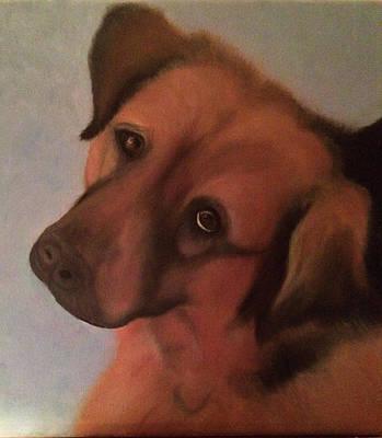 A Dog's Gaze Original by Gretchen Knowlton