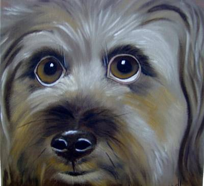Painting - A Dog's Love by Debra Campbell
