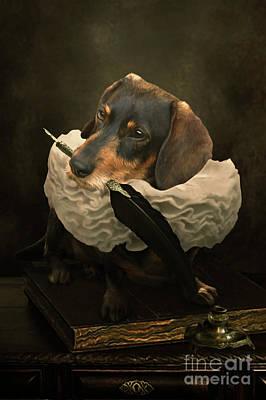 Ruff Digital Art - A Dogs Tale by Babette Van den Berg