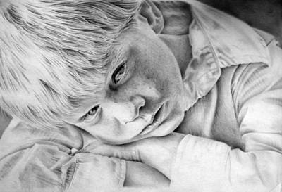 Drawing - A Doleful Child by John Neeve