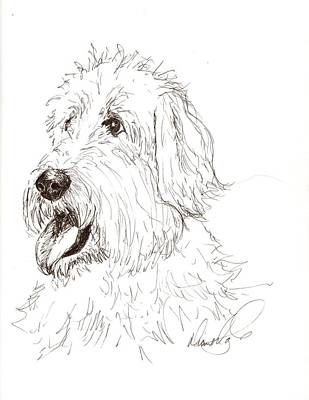 A Doodle Of My Doodle Art Print by Diane Daigle