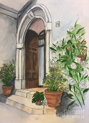 Painting - A Door In Castellucco, Italy by Lucia Grilletto