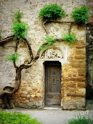 A Door In The Cloister Art Print by Lainie Wrightson
