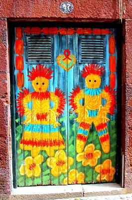 Photograph - A Door Showcasing Children's Art by Laurel Talabere